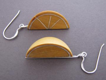 Lemon Wedge Earrings : $60