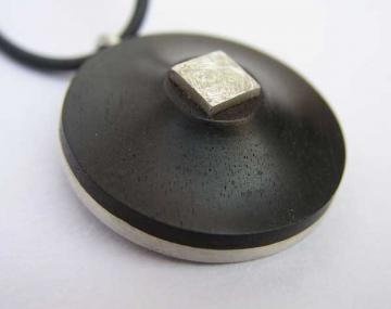Pendant Ebony and Silver  HALF PRICE! : $60