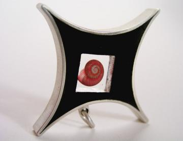 Contemporary star Jewellery Pendant Ebony and pink umbonium : $207