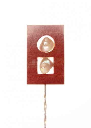 Pendant Brooch Pink Ivorywood Pearly 2 : $39
