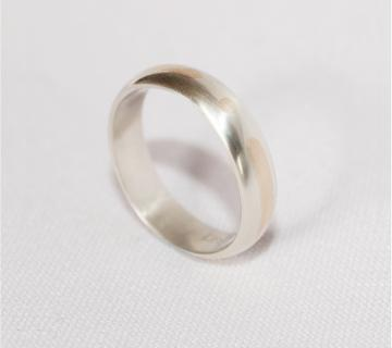 Wedding Band - 9ct White & Rose Gold