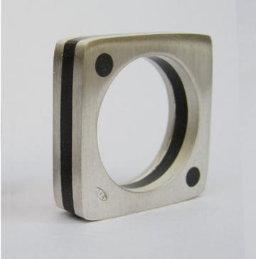Ring Silver and Ebony : $87